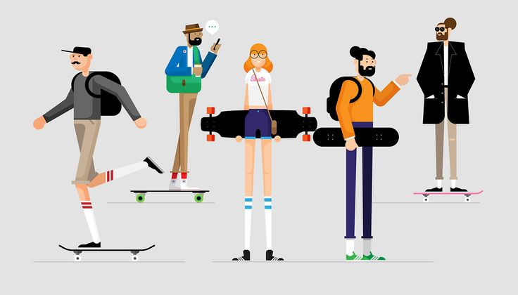 """Check out this @Behance project: """"Skaterboarders"""" https://www.behance.net/gallery/53071699/Skaterboarders"""