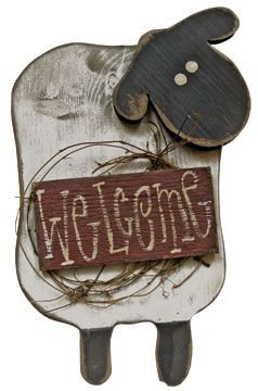 Welcome Sheep Sign - Kruenpeeper Creek Country Gifts