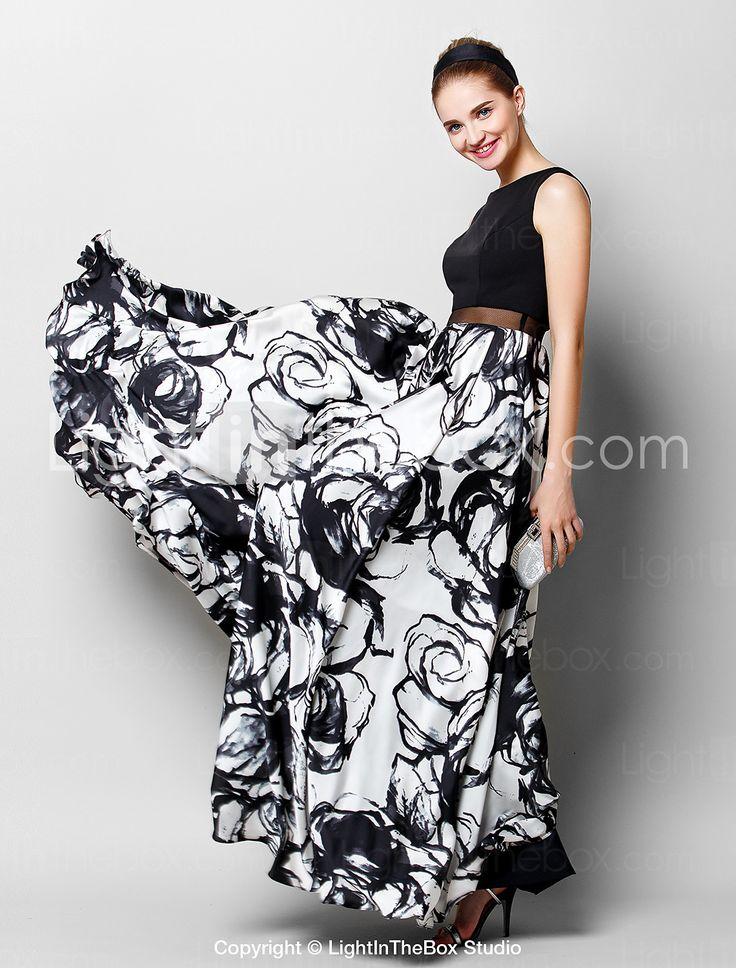 ts couture® báli hivatalos esti ruha-line kanál földig érő sifon / charmeuse mintával / print 4410486 2017 – €97.01