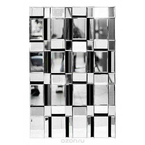 Зеркало настенное (90х60 см) Neo 17-3008 - купить по выгодной цене с доставкой. Интерьер от Garda Decor в интернет-магазине OZON.ru