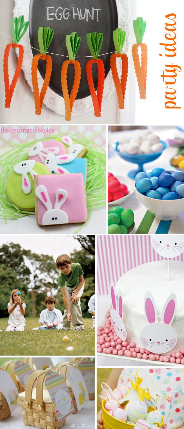 Easter Egg Hunt Party Ideas ~ Treats, Games & Crafts