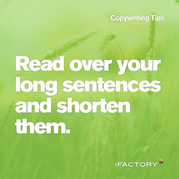 Copywriting Tips: Read over your long sentences and shorten them. #ifactory #ifactorydigital #digital #short #sweet #seo #tips #tricks #bestpractice #copy #copywriting #bne #australia