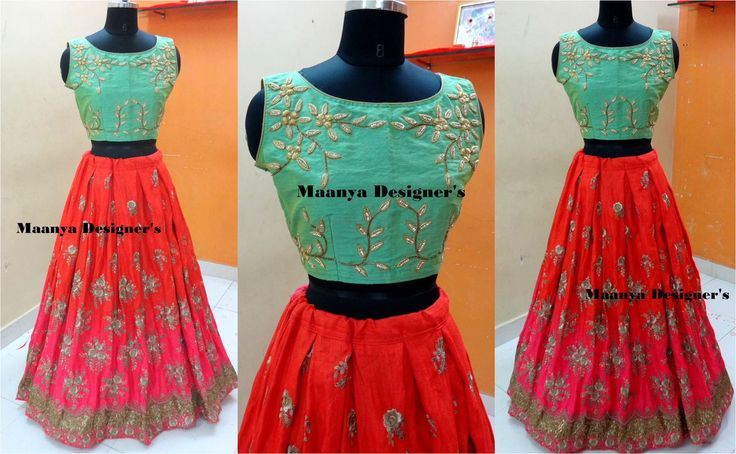 CODE-L157Crop Top Skirt Custom made zarzodi work Dual color skirt simple classy maanyadesigners embroidered outfit...To order/inquires email at maanyadesigners@gmail.com  22 April 2017