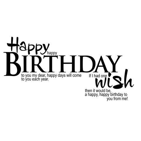 17 Best images about Birthday – Happy Birthday Greeting Text