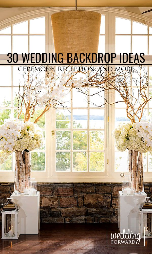 30 Wedding Backdrop Ideas For Ceremony, Reception and More ❤ Browse our wedding backdrop ideas gallery, find for yourself perfect paper or floral ideas with different colors and textures. See more: http://www.weddingforward.com/wedding-backdrop-ideas/ #wedding #backdrop