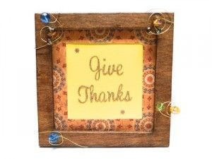 Create this inexpensive but exquisite handmade frame to give as a Thanksgiving hostess gift.