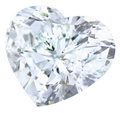 Heart shaped #diamond photo clipart
