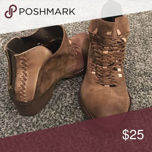 Ankle boots Tan leather ankle boots. Brand new, never been on. Paid $140 for these Rebels Shoes Ankle Boots & Booties