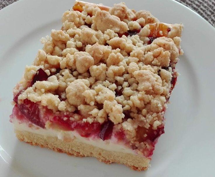 Rezept Quark-Streuselkuchen Blechkuchen mit z.B. Zwetschgen, Brombeeren, Himbeeren, Äpfel... von Pimpinella17 - Rezept der Kategorie Backen süß