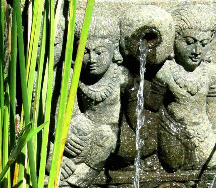 """Balinese water feature - BBC Boracay says:"""" Fresh water comes out of the wall to fill the little Spa pool..."""""""