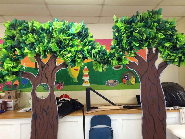 Trees For Forest Tissue Paper Leaves Shrek Props And