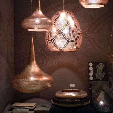 oriental lighting. Made In A Factory Egypt From Silver-plated Copper, The Lamps Have Been Punctured With Thousands Of Tiny Holes That Create Stunning Effects When Light Oriental Lighting