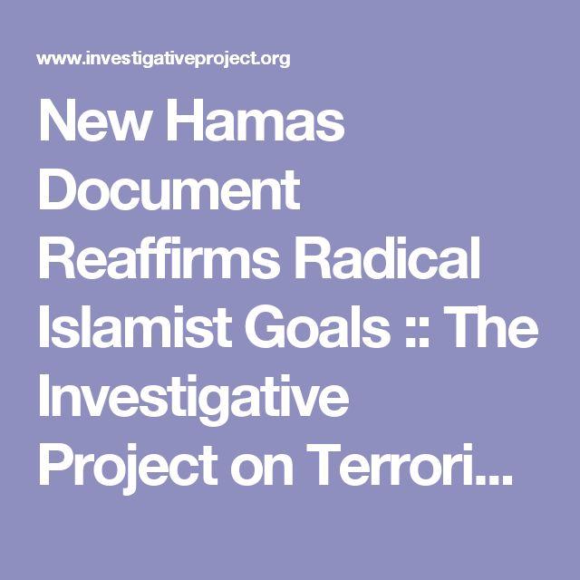 New Hamas Document Reaffirms Radical Islamist Goals :: The Investigative Project on Terrorism