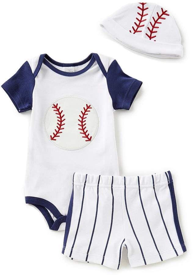 0f3fa29d Starting Out Baby Boys Newborn-9 Months Baseball Bodysuit, Striped Shorts,  & Hat 3-Piece Layette Set #babyboy, #layette, #dillards, #promotion