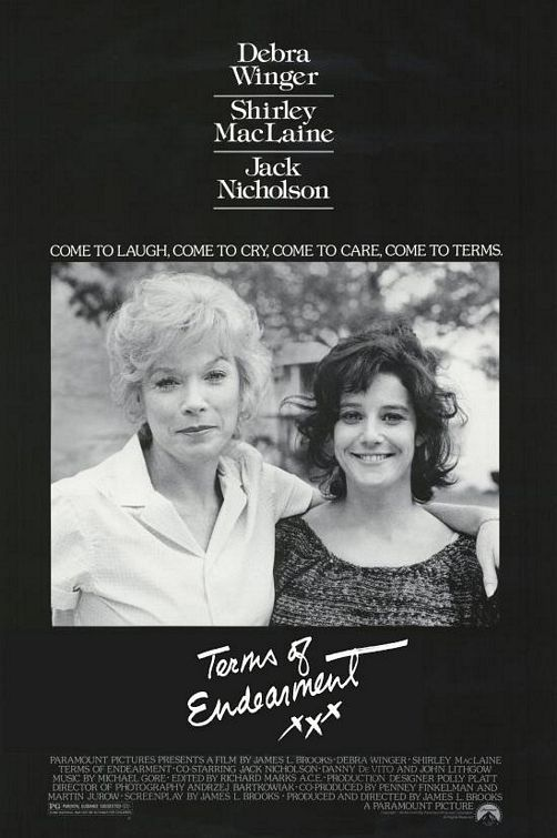 Terms of Endearment (1983) starring Shirley MacLaine, Debra Winger & Jack Nicholson
