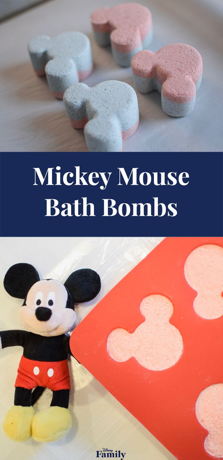 Who wouldn't want to add a little Disney magic to bath time? These DIY Mickey-Shaped Bath Bombs are the perfect addition for your kid's routine. They're fun to make, and your little ones will love watching Mickey fizz away and turn water fun colors — while releasing a soothing lavender scent.