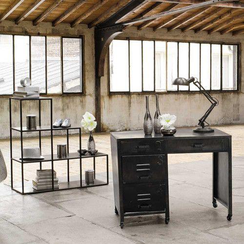 die besten 25 metallregal schwarz ideen auf pinterest rustikale b ckerregale regal metall. Black Bedroom Furniture Sets. Home Design Ideas