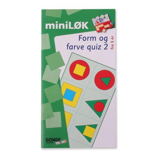 Form og fargequiz 1 inneholder øvelser hvor barnet skal gjenkjenne og sammenligne, analysere og kombinere.  Kan kun brukes med øvelseseskene.