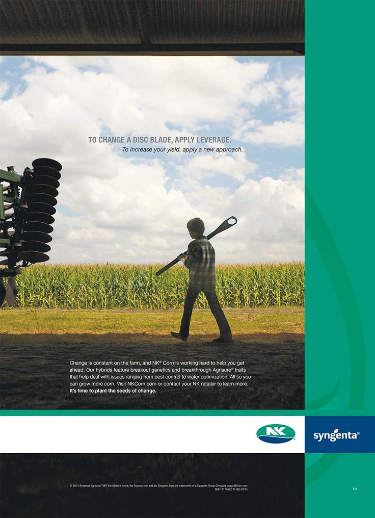 NK® Corn and NK® Soybeans Campaign - Print ad