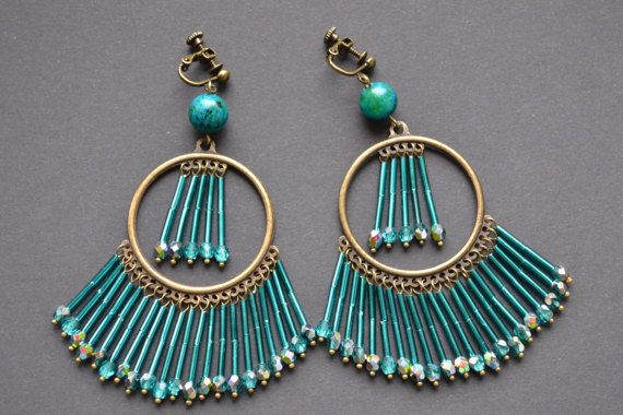 Dangle round large big modern earrings pendants by DesignVick