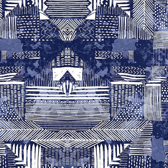 New tribal print on patternbank #patternbank #newonpatternbank #tribal #uksurfacepattern #foliofocus #surfacepattern #makeitindesign IG: @nickycollins76
