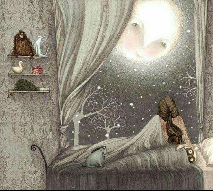 Goodnight Man in the moon