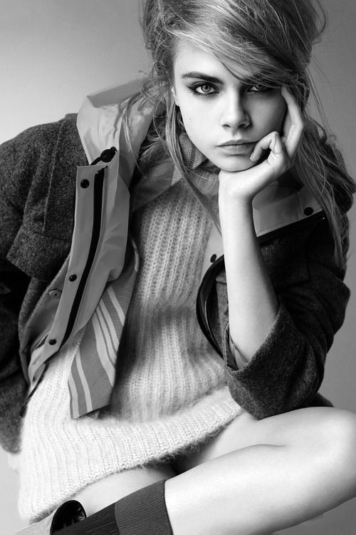 """""""I get a lot of girls who say, 'I just want to be a model so badly.' And I think: 'You can do better than that.' I mean, look, I do love it, I'm not saying anything bad about it, I just think you can do a lot more."""" — Cara Delevigne."""