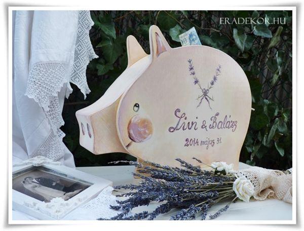 Esküvőre malacpersely.  További információk katt a linkre >> http://eradekor.hu/malacpersely-allatpersely-kezmuves-ajandek-gyerekeknek/