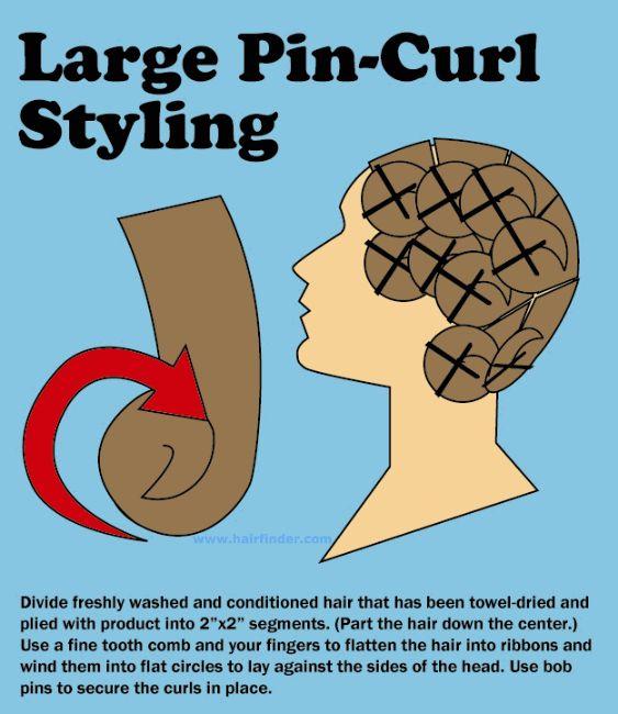 pin curls for long hair