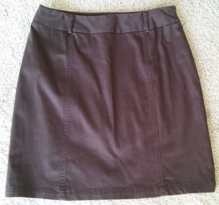 Worthington Stretch Size 10 Chocolate Brown Straight Skirt Career Casual #Worthington #StraightPencil