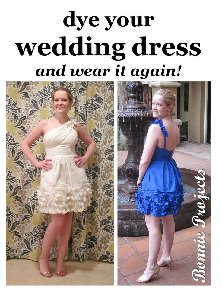 Bonnie Projects Dye Your Wedding Dress And Wear It Again