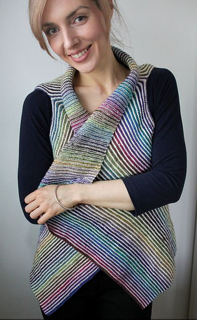 Kauni Cascade Vest Free Knitting Pattern | NobleKnits Knitting Blog | Bloglovin