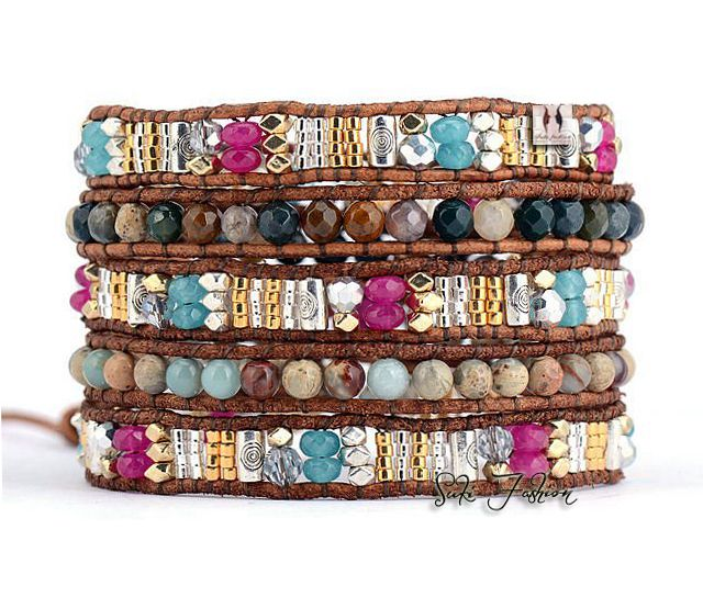 Cheap stone cushion, Buy Quality stone rosary beads directly from China stone cross beads Suppliers: Amazing Unique Mixed Stones with Selected Glass Beads Weave Wrap Bracelets Beading Pattern Bohemian Mulit Layered
