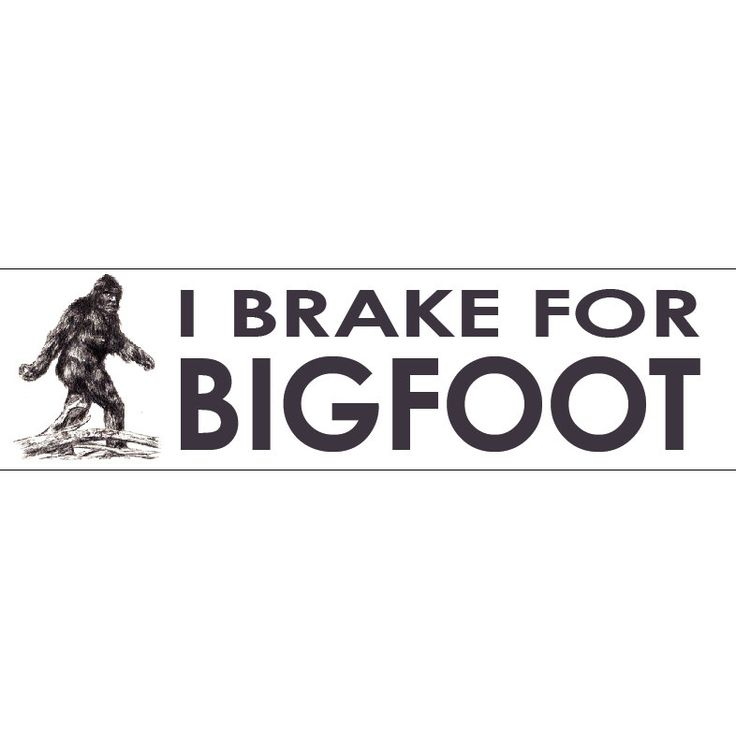 I Brake for Bigfoot Decal Vinyl or Magnet Bumper Sticker by StickitDog on Etsy https://www.etsy.com/listing/224960760/i-brake-for-bigfoot-decal-vinyl-or