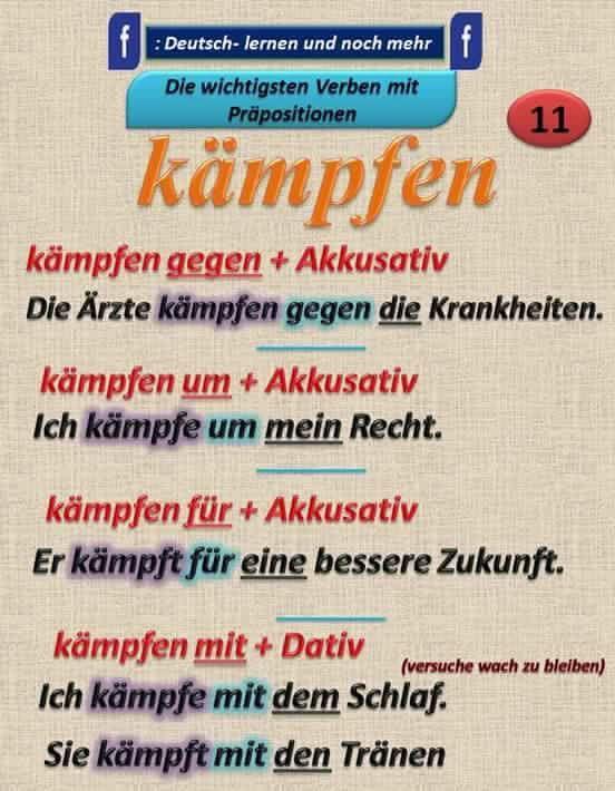 German grammar - Kämpfen