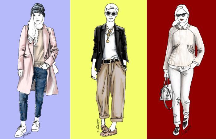 Hier bei der Modeflüsterin gibt es viele Beispiele für Outfits, die sowohl mit Sneakers, als auch mit Schnürschuhen oder Mokassins funktionieren.