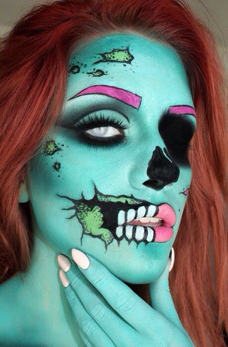 Zombie pinup makeup this is amazing!!!!!!!!!