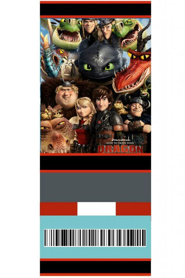Free Printable Movie Ticket Style Invitations How To Train Your Dragon Rook Como Entrenar A Tu Dragon Fiestas De Cumpleanos De Dragon Cumpleanos De Dragon