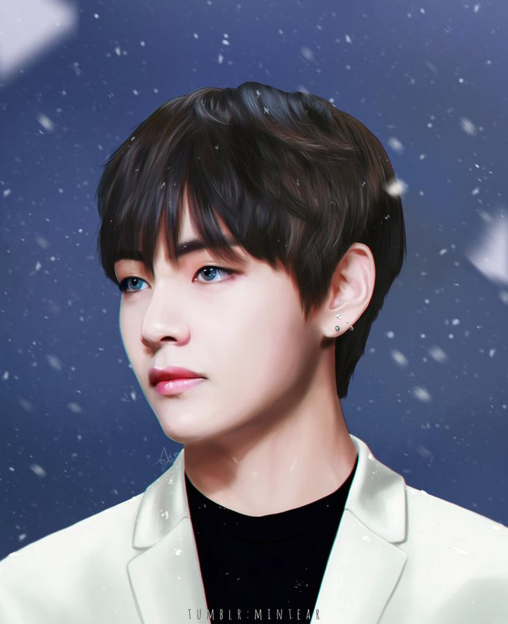 BTS Fan Art : V Kim Taehyung By Minimin7