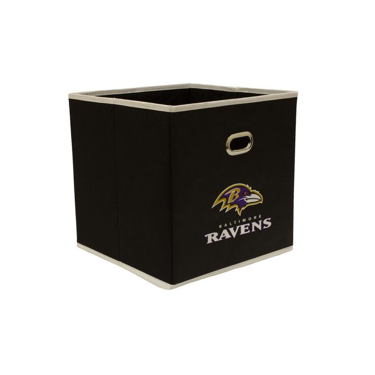 Baltimore Ravens NFL Store-Its 10-1/2 in. W x 10-1/2 in. H x 11 in. D Black Fabric Drawer, Baltimore Ravens/Black