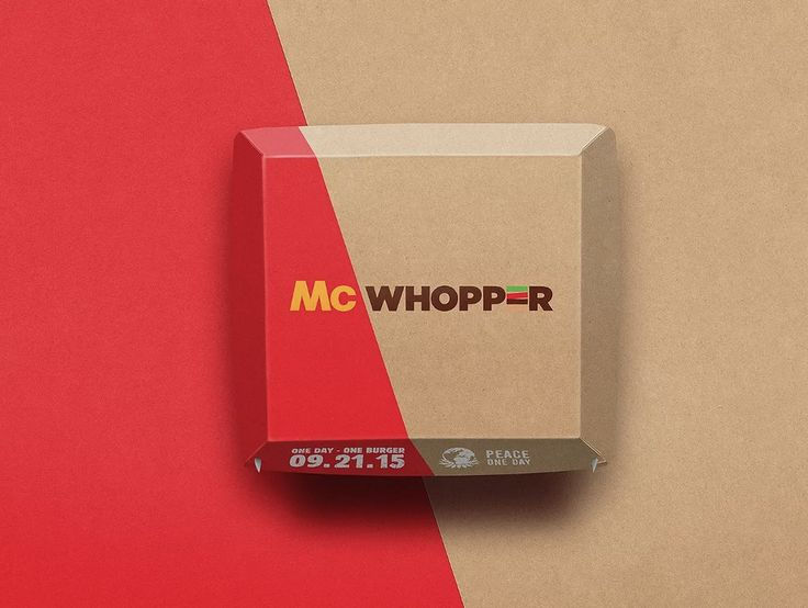 McWhopper Burger King and McDonalds