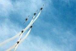 THE Royal Australian Air Force Roulettes precision flying team put on a stunning display of daredevil aerobatic skills over Esperance last week. KGM-0001372 © WestPix