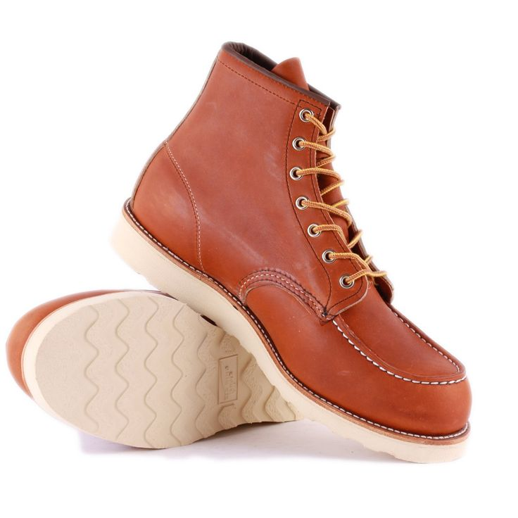 Red Wing 6-inch Moc Toe Mens Boots in Tan