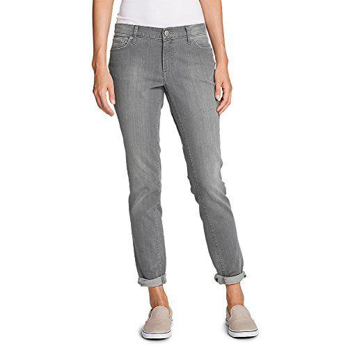 Eddie Bauer Women's Boyfriend Jeans - Slim Leg, River Rock 14