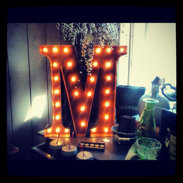 Vanity With Marquee Lights : 17 Best images about M is for on Pinterest Initials, Drop cap and Milkshake machine
