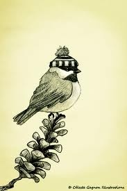 Love it, Chickadees and Hats on Pinterest