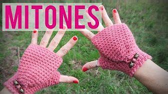 Guantes sin dedos ( Mitones) / Tutorial DIY - YouTube