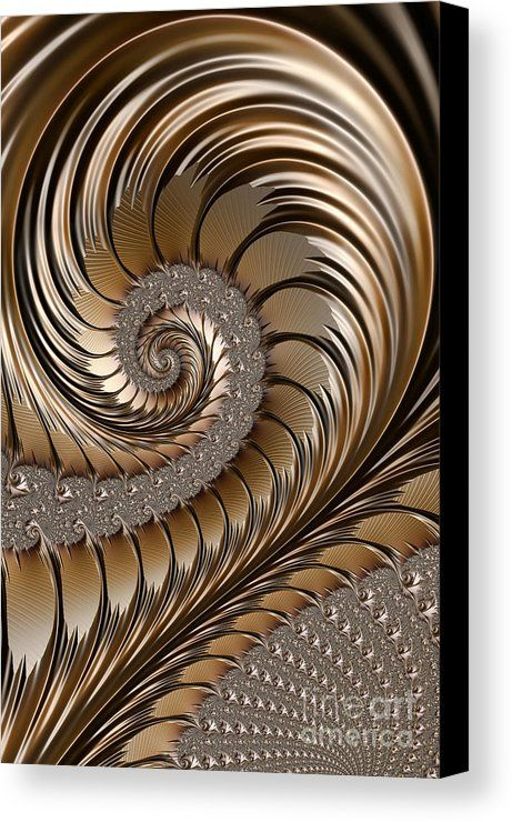 Bronze Scrolls Abstract Canvas Print by John Edwards. All canvas prints are professionally printed, assembled, and shipped within 3 - 4 business days and delivered ready-to-hang on your wall. Choose from multiple print sizes, border colors, and canvas materials.