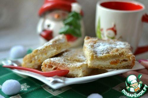 Творожный пирог без теста - кулинарный рецепт