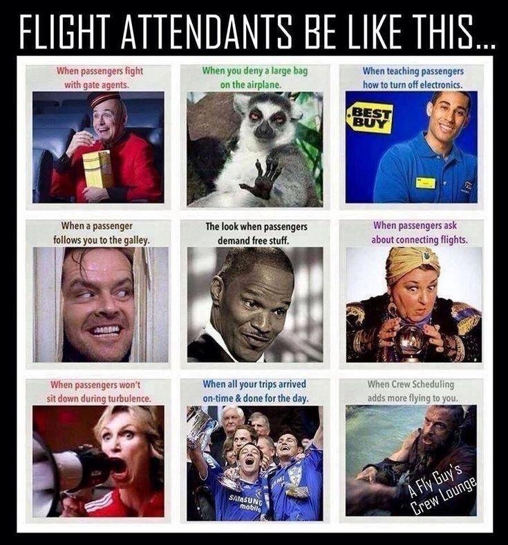Flight attendant humor:)